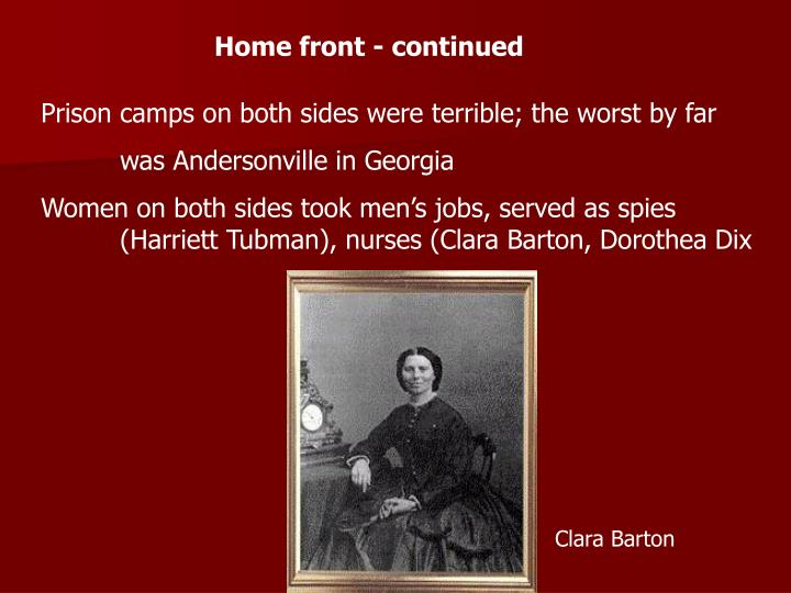 Home front - continued