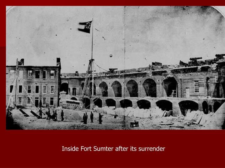 Inside Fort Sumter after its surrender