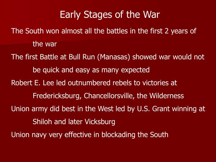 Early Stages of the War