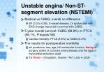 unstable angina non st segment elevation nstemi1