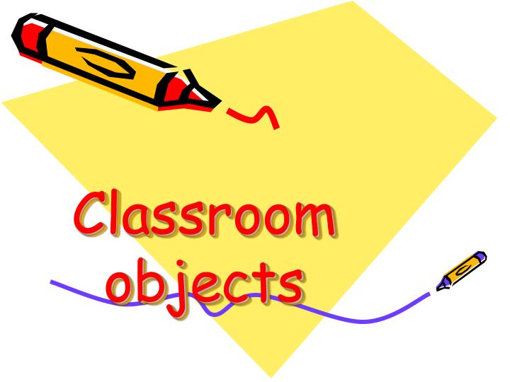 classroom objects n.