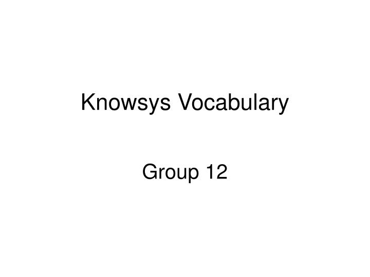 knowsys vocabulary n.