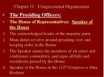 chapter 11 congressional organization