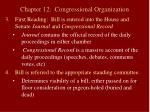 chapter 12 congressional organization13