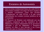 estatutos de autonom a