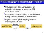 cdl notation and netcdf utilities