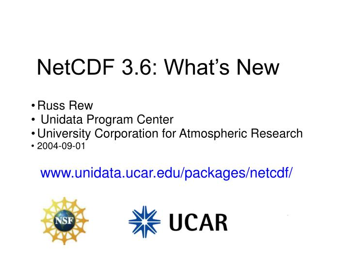 netcdf 3 6 what s new n.