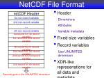 netcdf file format