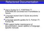 refactored documentation