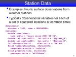station data