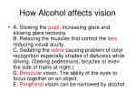 how alcohol affects vision