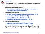 wavelet poisson intensity estimation overview
