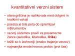 kvantitativni verzni sistem