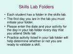 skills lab folders
