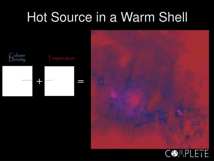 Hot Source in a Warm Shell