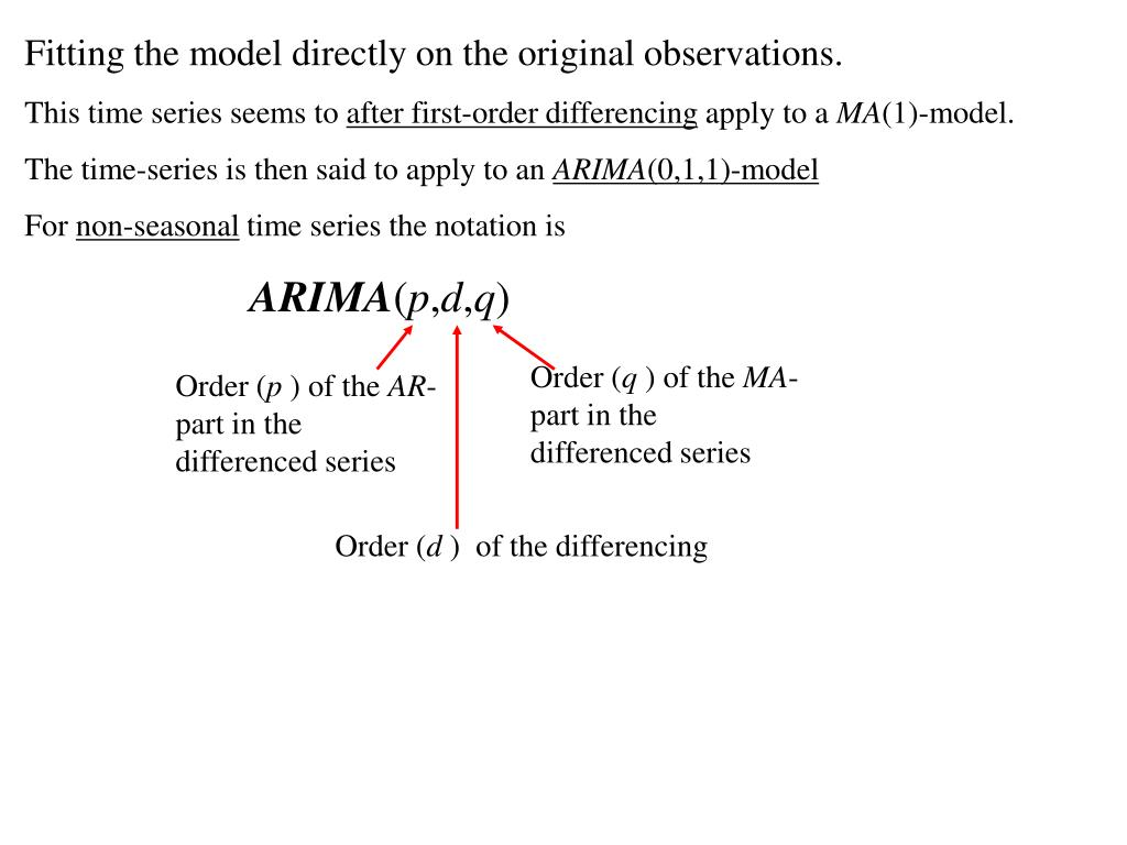 PPT - ARIMA-models for non-stationary time series PowerPoint