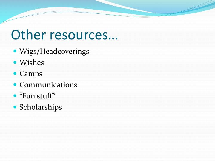 Other resources…