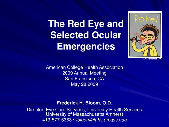 the red eye and selected ocular emergencies n.