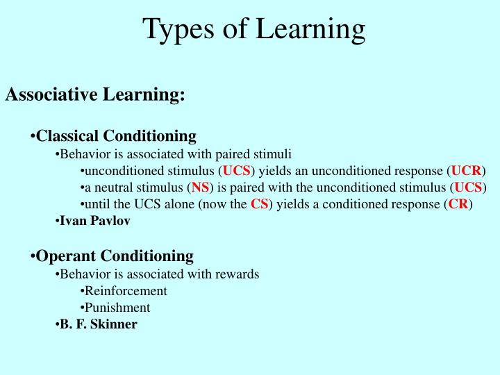 Ppt Types Of Learning Powerpoint Presentation Free Download Id 5640643