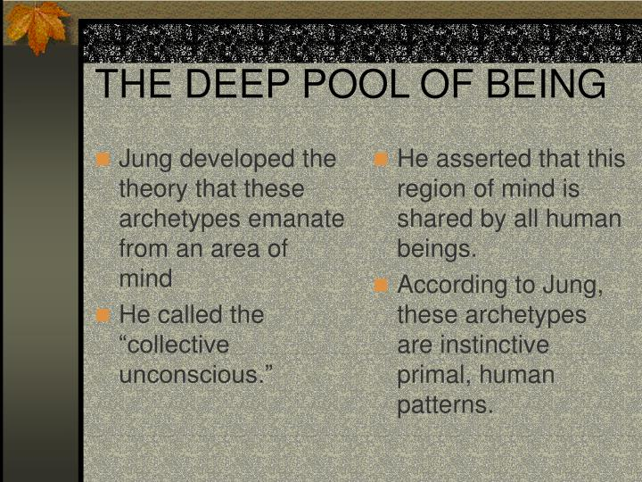 Jung developed the theory that these archetypes emanate from an area of mind