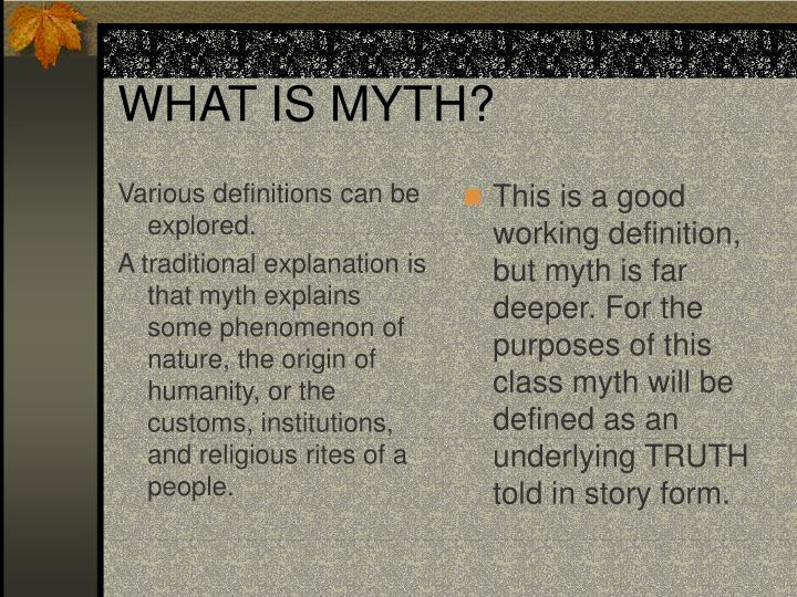 What is myth