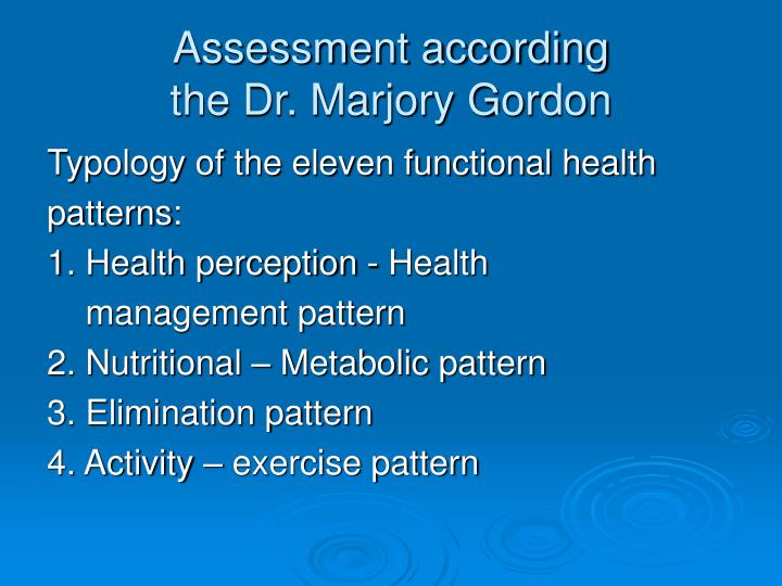 marjory gordon nursing theory