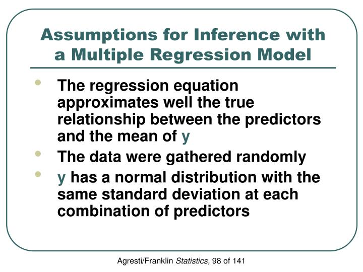 Assumptions for Inference with a Multiple Regression Model