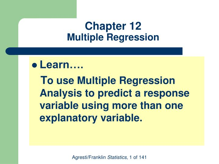 chapter 12 multiple regression n.