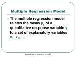 multiple regression model