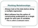plotting relationships