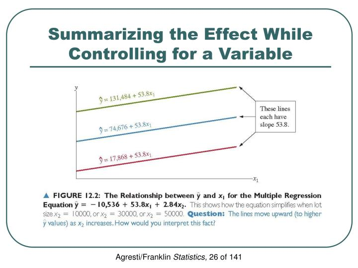 Summarizing the Effect While Controlling for a Variable