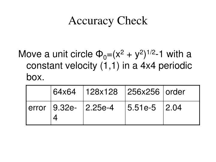 Accuracy Check