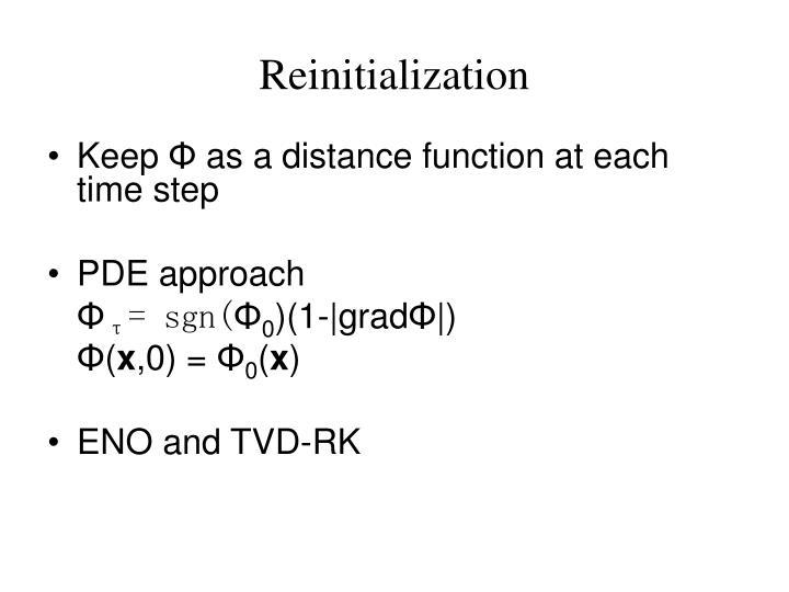 Reinitialization