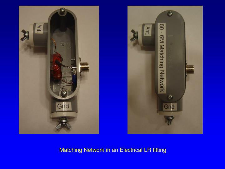 Matching Network in an Electrical LR fitting