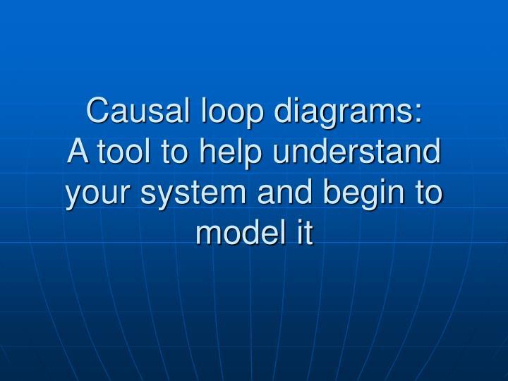 Causal loop diagrams: