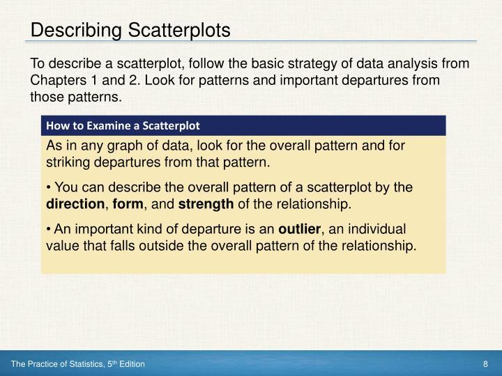 Describing Scatterplots