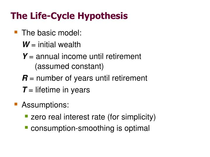 The Life-Cycle Hypothesis