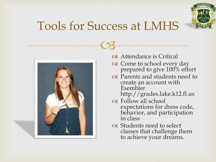 Tools for Success at LMHS
