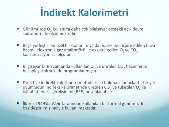 İndirekt Kalorimetri