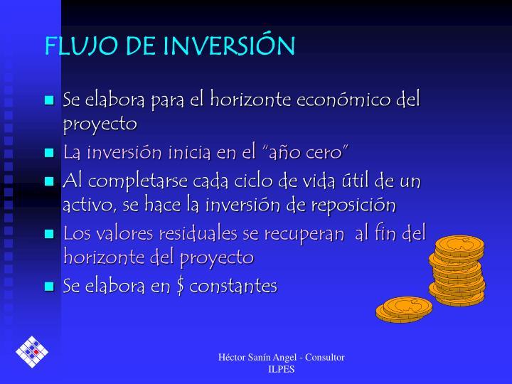 FLUJO DE INVERSIÓN