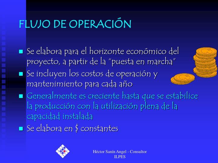 FLUJO DE OPERACIÓN