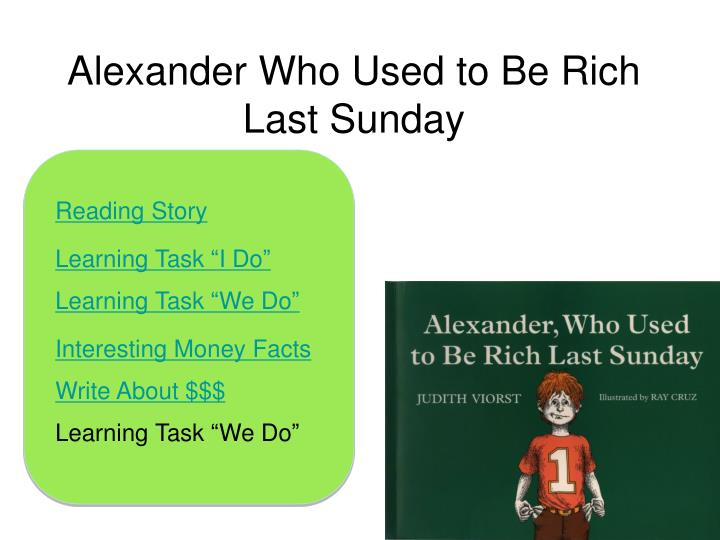 alexander who used to be rich last sunday n.