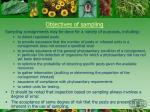 objectives of sampling