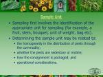 sample unit