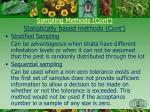 sampling methods cont statistically based methods cont