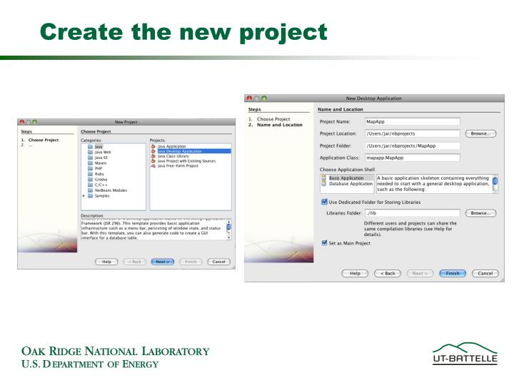 Create the new project