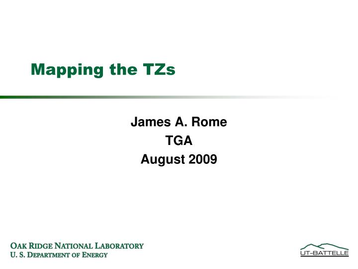 Mapping the tzs