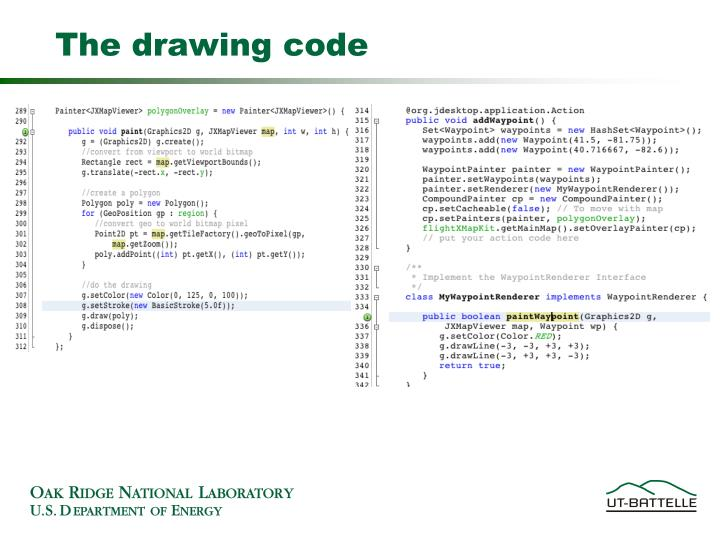 The drawing code