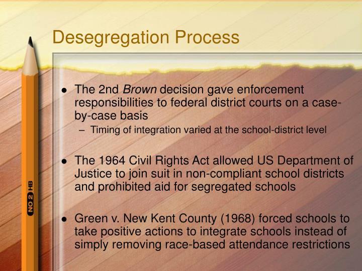 Desegregation Process