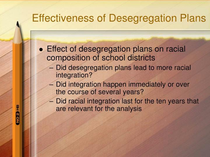 Effectiveness of Desegregation Plans